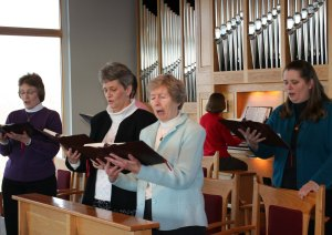 Benedictine Sisters Jackie Walsh Claudia Scharf Catherine Cleary Susan Hutchens (piano) Stefanie MacDonald at Lauds